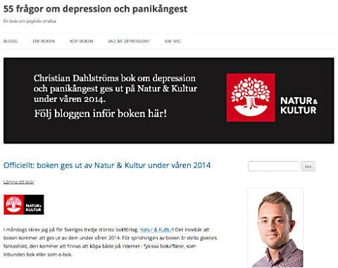 Bok om depression och panikångest - vadardepression.se