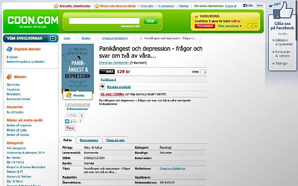 bok om depression och panikångest - Christian Dahlström