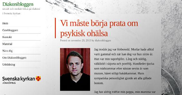 Podcast om psykisk ohälsa och blogginlägg på Svenska kyrkan